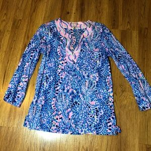 Lilly Pulitzer Blue & Pink Tunic